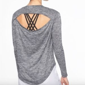 ⌈Athleta⌋ Open Back Breezy Long Sleeve Shirt